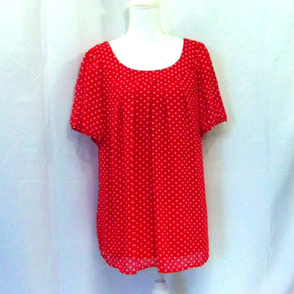 Dress Barn Tops - Dress Barn Polka Dot Shirt Size 2X